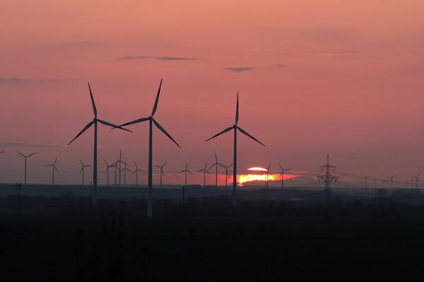 Sonnenuntergang in NiederndodeLEBEN Richtung Wellen von der Bismarkwarthe