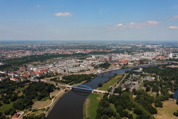 Luftbilder Magdeburg aus der Luft