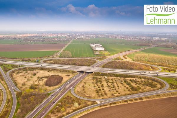 Magdeburg als Foto aus der Luft